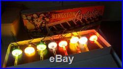 EXTREMELY RARE VINTAGE KINGSTON CRYSTALITES CHRISTMAS TREE LIGHTS Bubble Lights