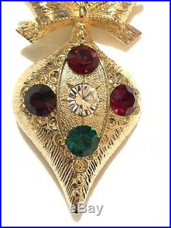 Eisenberg Ice Signed New Old Stock Vintage Christmas Tree Ornament Brooch Pin
