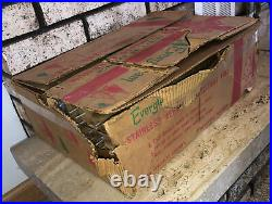 Evergleam 4 Aluminum Christmas Tree w 58 Branches & Deluxe Stand in Box vtg USA