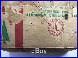 Evergleam Revolving Christmas Tree Stand 1950s Vintage Gold Atomic Star
