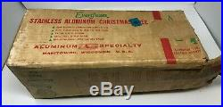 Evergleam Vintage Stainless Aluminum 4 ft. Christmas Tree Original Box No Stand
