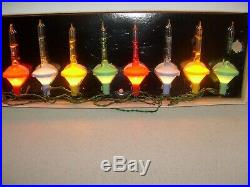 Extremely Rare! A Set Of Vintage Kingston Crystalites Christmas Tree Lights