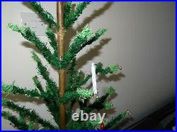 GOOSE FEATHER CHRISTMAS TREE ANTIQUE VINTAGE GERMANY M GESCHUTZT USA 20s 30s 36