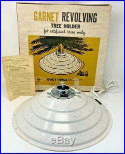 Garnet Revolving Tree Holder Mid Century Modern Christmas Vintage WithBox 19-2492