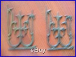 German Vtg Cast Iron Xmas Toy Tree Fence Gates, Railroad, Dollhouse 24 piece set