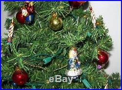 HTF Vintage 1980's Teleflora Spode Christmas Tree 25 Tabletop Tree w Ornaments