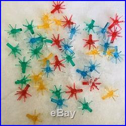 HTF Vintage Ceramic Christmas Tree Bulb Lights 50 Assorted Color Sputnik Star