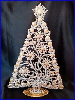 HUGE Czech 1930s Art Deco Vintage Rhinestone Free Standing Christmas Trees #5