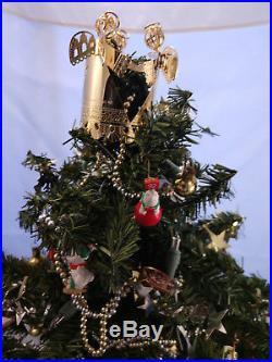 Hallmark Holiday Express Miniature Xmas Tree Base Moving Train 1993 VTG Ornament