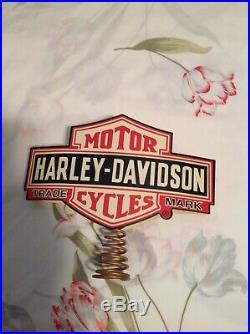 Harley Davidson Christmas Tree Topper New Vintage Logo (Hard to Find) (Rare)