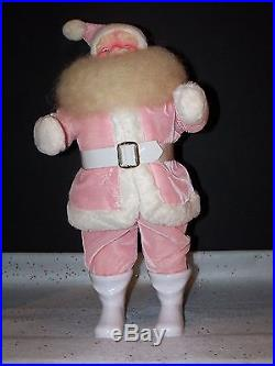 Harold Gale Santa Pink Vintage Doll Store Display Christmas Tree Ornament New