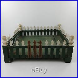Hc Vintage Wood Wooden Green White Shabby Christmas Tree Stand Fence Posts