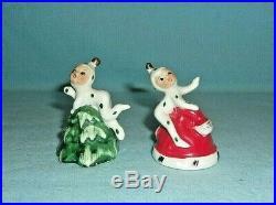 Holt Howard Vintage Christmas Pixie Elf On Hat & Tree Bells With Original Labels