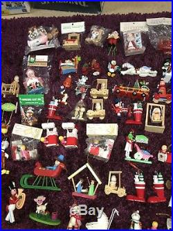 Huge Large Lot Of 90+ VTG Wood Wooden Christmas Tree Ornaments Fairy Tales