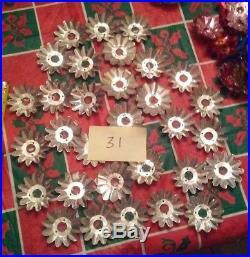 Huge Lot 270 Assorted Vintage Foil Christmas Tree Light Reflectors