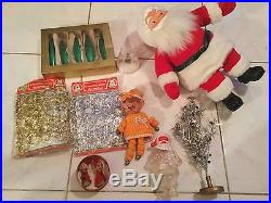 Huge Lot of Rare Vintage Christmas Decorations Tree Toppers & Ornaments