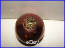 Kugel Copper Glass Ball Christmas Tree Ornament Germany Vintage
