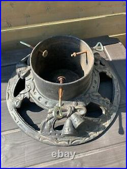 Large 7 diameter Tree Stand Christmas German Cast Iron Vintage