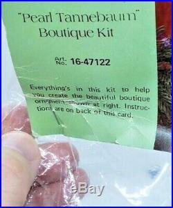 LeeWards PEARL TANNEBAUM Christmas Tree HUGE Bead Ornament Craft Kit Vintage 73