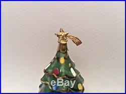 Limoges CHRISTMAS TREE EXIMIOUS Peint Main France Vintage Rare Trinket Box