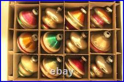 Lot 12 VTG Shiny Brite Premier Mercury Glass TORNADO UFO Tree Christmas Ornament