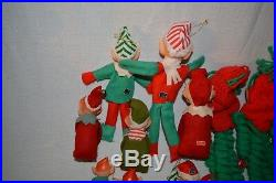 Lot 13 Vintage KNEE HUGGER Elves Elf PIXIE Japan CHRISTMAS Tree Ornaments Santa