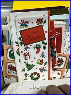 Lot 150+ Plus Vintage Christmas Cards Santa Holiday Cute Tree Candle 1940- 60's