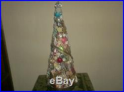Lot Lbs Vintage Rhinestone Costume Jewelry Christmas Tree Not Framed 23 High