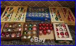 Lot Of 143 Vintage Mercury Glass Christmas Tree Ornaments Some Shiny Brite Retro