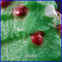 Lot of 2 VTG 1981 Christmas Blow Mold Christmas Tree Carolina Enterprises