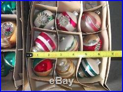 Lot of 40 Vintage Glass Christmas Tree Ornaments Indents, Mica, Shiny Brite, Etc