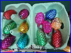 Lovely Vintage Antique Christmas Tree Baubles Decorations 68 inc Pine Cones