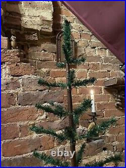 Massive Antique Vintage Goose Feather Christmas Tree 43 Inches Tall