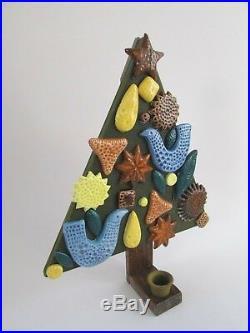 Mid Century John French Arklow Style Christmas Tree Candle Holder Fitz & Floyd