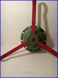 Mid Century Modern Vintage Atomic Cast Iron Christmas Tree Stand AMAZING