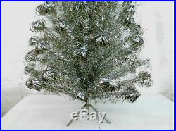 Mid-Century Modern Vintage PECO Aluminum Christmas Tree 7' Super Deluxe Model