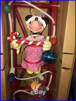 Mr. Christmas Disney Mickey Tree Trimmers Characters On Ladder Vintage Rare