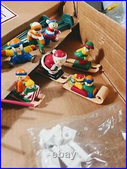 Mr Christmas Santa's Ski Slope in Box Vintage 1992 WORKING Around Tree Display