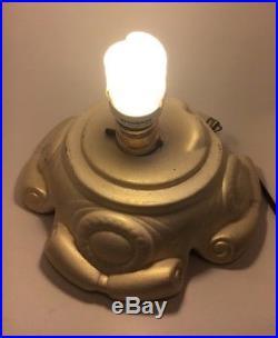 Musical Box Vtg Ceramic Lighted White Gold Christmas Tree Atlantic Mold