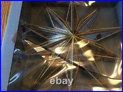 NEW RARE Pottery Barn GOLD MIRRORED STAR CHRISTMAS TREE TOPPER vintage antiqued