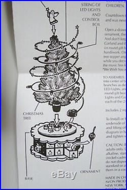 NEW Vintage Avon Christmas is Coming Advent Revolving Musical Christmas Tree