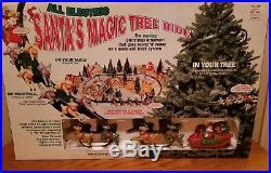 NIB Santa Magic Tree Ride The All Electric Vintage Christmas RARE