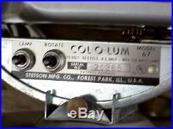 NMIB 1963 Vintage Model 67 COL-O-LUM ROTATING COLOR WHEEL for Christmas Trees