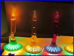 Noma Bubble Lights 9 Vintage C6 Saucer Christmas Tree Bubbling Lite Bulb