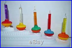 Noma Bubble Lights 9 Vintage Xmas Tree Biscuit Bubbling Lite Bulbs With Box