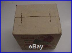 NOS Sealed Vintage Colortone Aluminum Christmas Tree Electric Roto-Wheel