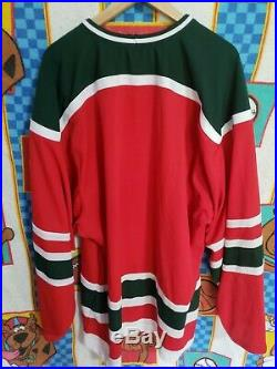 New Jersey Devils Vintage CCM XXL red & green Christmas Tree NHL Jersey RARE