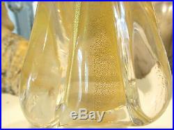 Nice Vintage Clear & Gold Murano Glass Christmas Tree With Label