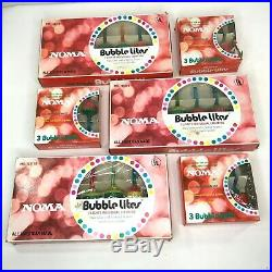 Noma Bubble Lights C7 Christmas Tree Lot of 29 Vintage Tulip Bulbs Tested Rare