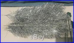 Nos Vintage Ussr Aluminum Silver Glow Christmas Tree 5 Ft Original Box